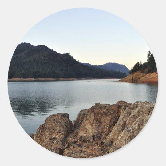 Lake Shasta Classic Round Sticker