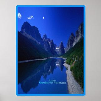 Lake Sherburne in Montana, poster