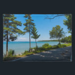 """Lake Shore Drive Paradise Cloth Placemat<br><div class=""""desc"""">You just can&#39;t get enough of the beautiful and breathtaking views of Lake Huron along Mackinac Island&#39;s Lake Shore Drive. Looking for more prints or products? Feel free to visit my store: http://www.zazzle.com/timelessmomentsphtgy This photo was taken by Jennifer White with Timeless Moments Photography. All images are copyrighted &#169; Timeless Moments...</div>"""