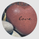 Lake Shore Red Heart Stone Sticker