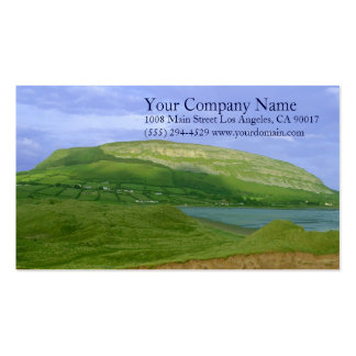 Lake Shore Shoreline Lush Green Grassy Mountains Business Cards