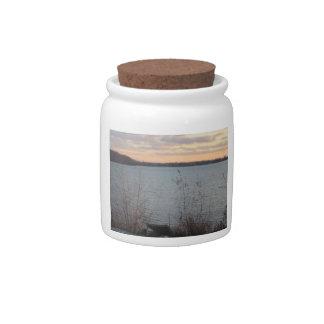 Lake Shore Sunset Candy Jar