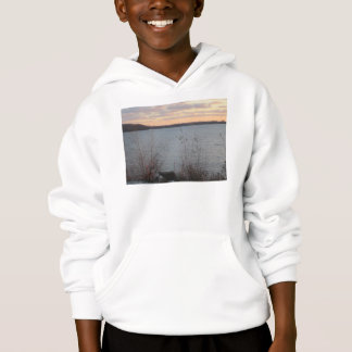 Lake Shore Sunset Kids Hooded Sweatshirt