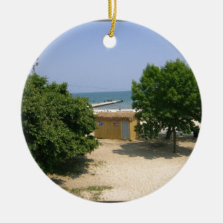 Lake Shores Getaway! Double-Sided Ceramic Round Christmas Ornament