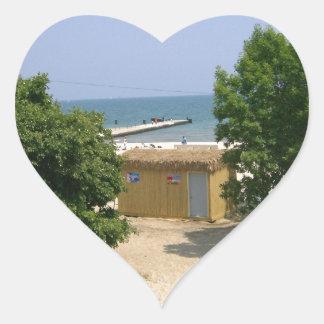 Lake Shores Getaway! Heart Sticker