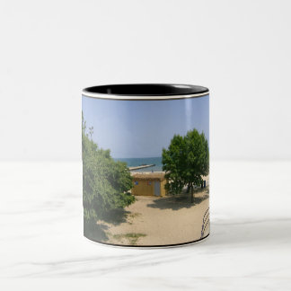 Lake Shores Getaway! Two-Tone Coffee Mug