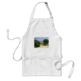 Lake Shores Getaway with White Matte Adult Apron
