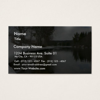 Lake Side In Winter Business Card