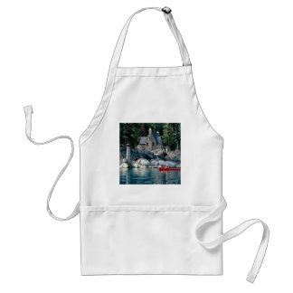 Lake Sight Seeing By Canoe Tahoe Adult Apron