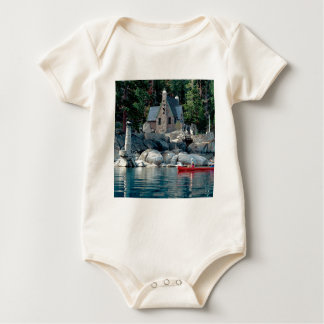 Lake Sight Seeing By Canoe Tahoe Baby Bodysuit