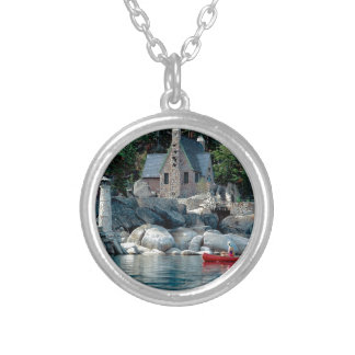 Lake Sight Seeing By Canoe Tahoe Custom Necklace