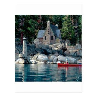 Lake Sight Seeing By Canoe Tahoe Postcard