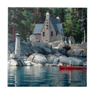Lake Sight Seeing By Canoe Tahoe Tile