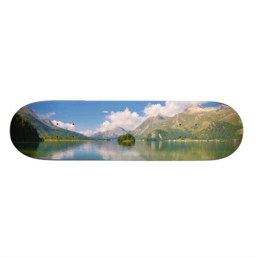 Lake Sils, in Graubünden, Swizerland Custom Skate Board