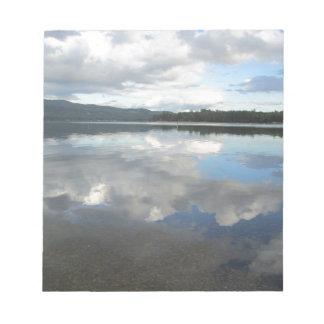 Lake Sky Reflection Memo Pads