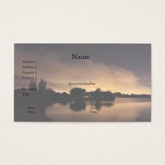Lake Skyline at Night 1 Business Card