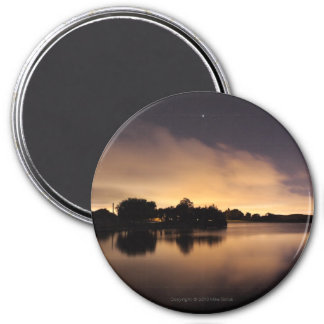 Lake Skyline at Night 1 Magnet