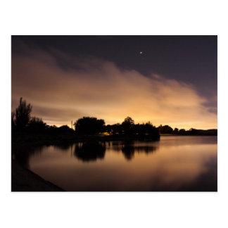 Lake Skyline at Night 1 Postcard