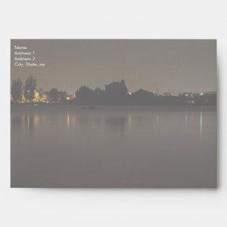Lake Skyline at Night 2 Envelope