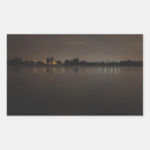Lake Skyline at Night 2 Sticker