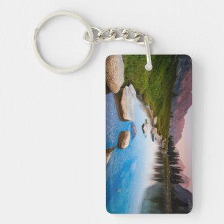 Lake Solitude Double-Sided Rectangular Acrylic Keychain