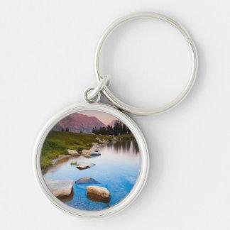Lake Solitude Silver-Colored Round Keychain