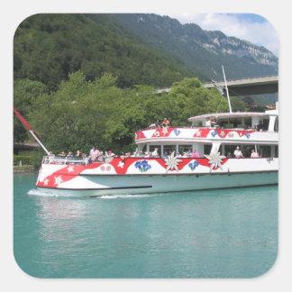 Lake steamer, Brienzersee Square Sticker