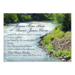 Lake Stream Nature Photography Wedding 5x7 Paper Invitation Card