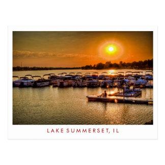 Lake Summerset Illinois Postcard