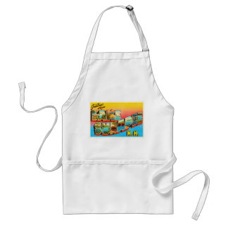 Lake Sunapee New Hampshire NH Old Travel Souvenir Adult Apron
