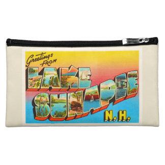 Lake Sunapee New Hampshire NH Old Travel Souvenir Cosmetic Bag