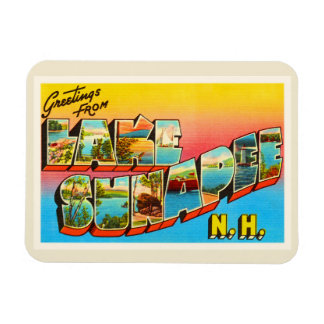 Lake Sunapee New Hampshire NH Old Travel Souvenir Magnet