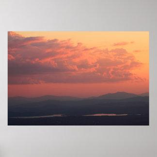 Lake Sunapee Sunset Poster