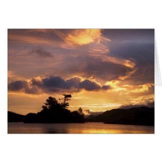 Lake sunrise card