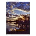 Lake sunset1, We Remember Card