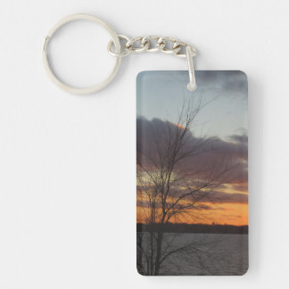 Lake Sunset Acrylic Keychain
