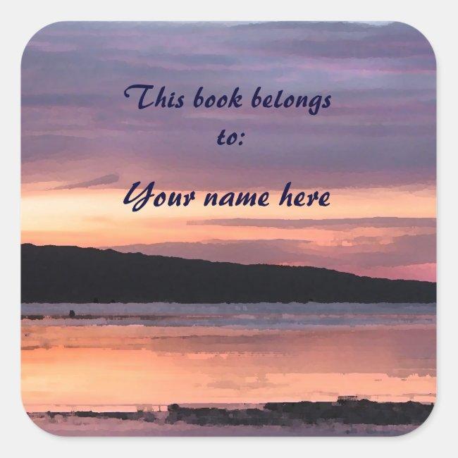 Lake Sunset Bookplate