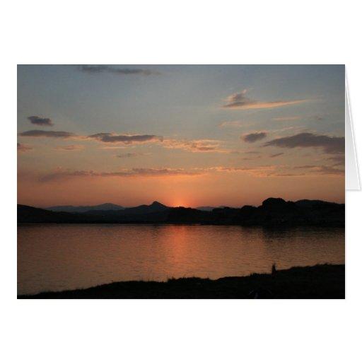 Lake Sunset Card