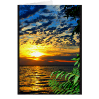 Lake Sunset Get Well Soon Card