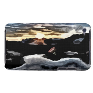 lake sunset painting barely there iPod cover