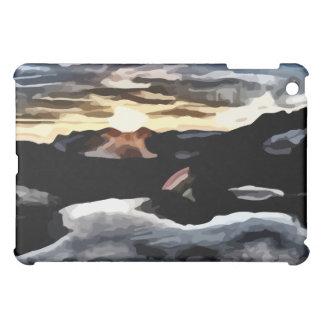lake sunset painting case for the iPad mini