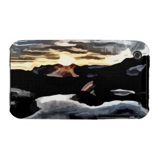 lake sunset painting iPhone 3 case