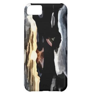 lake sunset painting iPhone 5C case