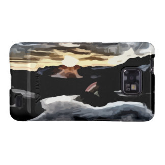 lake sunset painting samsung galaxy case