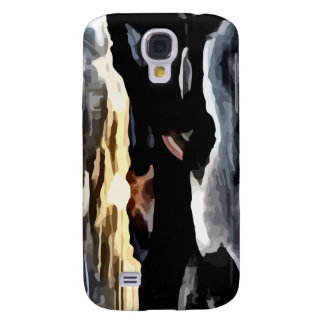 lake sunset painting samsung galaxy s4 covers