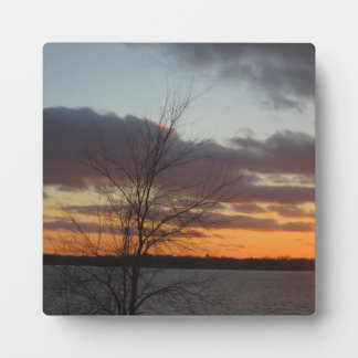 Lake Sunset Plaque