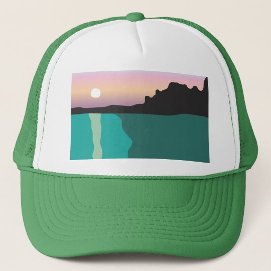 Lake Sunset Trucker Trucker Hat