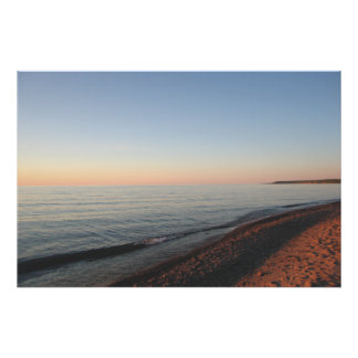 Lake Superier Sunset Michigan Poster
