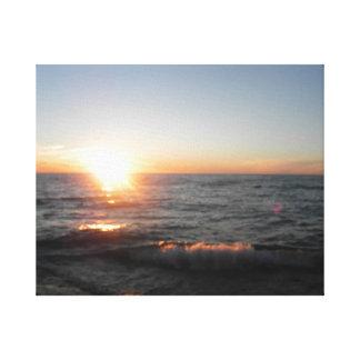Lake Superior at Sunset Canvas Print