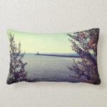 Lake Superior Break Wall Throw Pillows